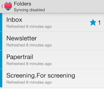 The folders I'm monitoring